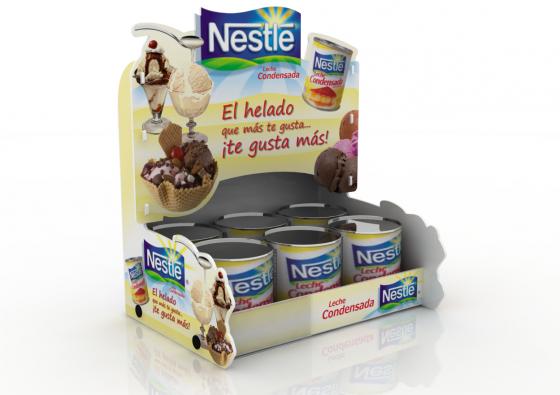 Exhibidor de Góndola Nestle